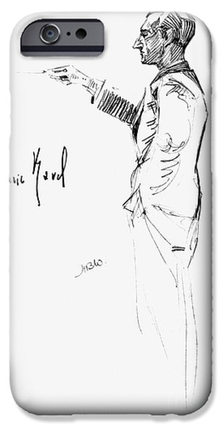 Autographed Photographs iPhone Cases - Maurice Joseph Ravel iPhone Case by Granger