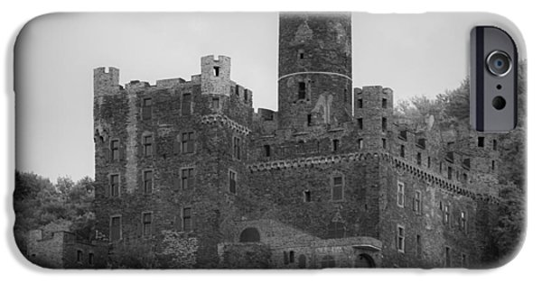 Historic Site iPhone Cases - Maus Castle 08 B W iPhone Case by Teresa Mucha
