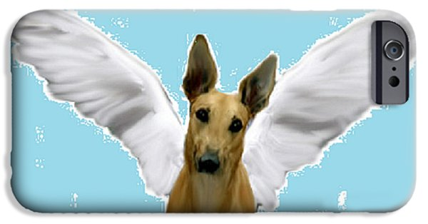 Dogs iPhone Cases - Maverick Angel iPhone Case by Jennifer Howard