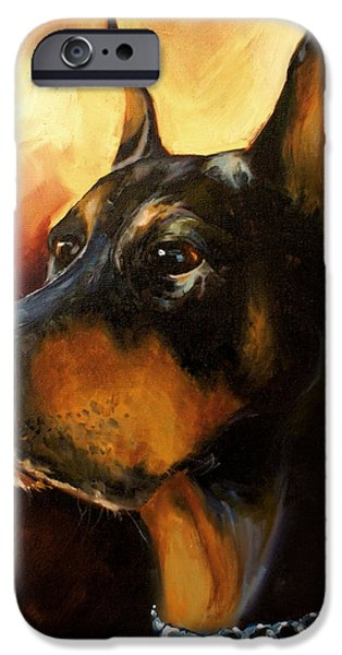 Doberman iPhone Cases - Max iPhone Case by Michael Lang
