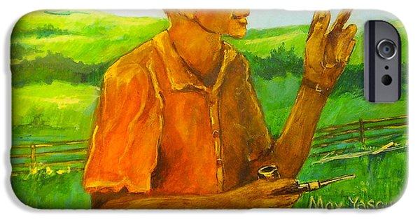 Farm Sculptures iPhone Cases - Max Yasgur iPhone Case by William Osmundsen
