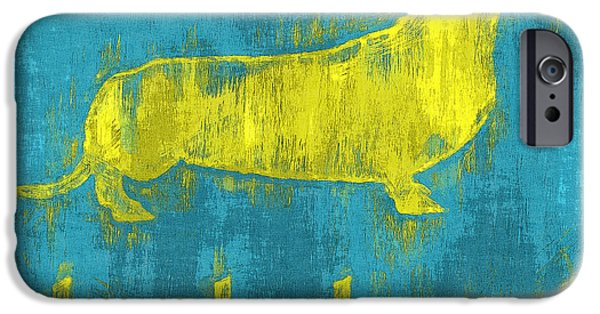 Dachshund Digital Art iPhone Cases - May 22 2015 iPhone Case by Anthony Ross