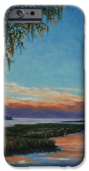 May River Sunset iPhone Case by Stanton Allaben