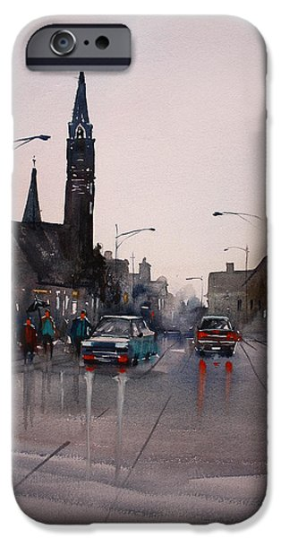 Mood Paintings iPhone Cases - May Showers in Montello iPhone Case by Ryan Radke