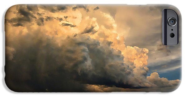 Fury iPhone Cases - May Thunderstorm at Dusk iPhone Case by Gerald MacLennon