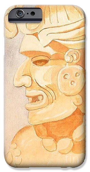 Figure iPhone Cases - Mayan Warrior iPhone Case by Fred Jinkins