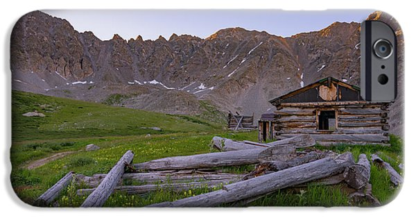 Mountain Cabin iPhone Cases - Mayflower Homestead iPhone Case by Darren  White