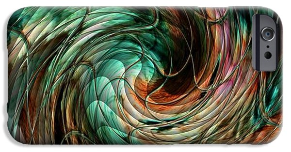 Abstract Expressionist iPhone Cases - Mayhem Swirl Behind The Safety Net Catus 1 no. 1 H a iPhone Case by Gert J Rheeders