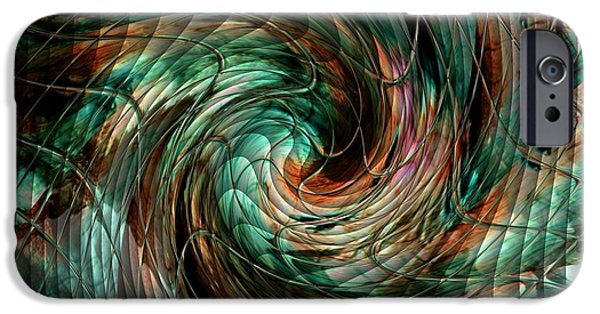 Abstract Expressionist iPhone Cases - Mayhem Swirl Behind The Safety Net Catus 1 no. 1 H B iPhone Case by Gert J Rheeders