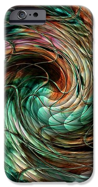 Abstract Expressionist iPhone Cases - Mayhem Swirl Behind The Safety Net Catus 1 no. 1 V a iPhone Case by Gert J Rheeders