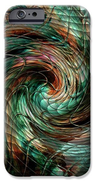 Abstract Expressionist iPhone Cases - Mayhem Swirl Behind The Safety Net Catus 1 no. 1 V b iPhone Case by Gert J Rheeders