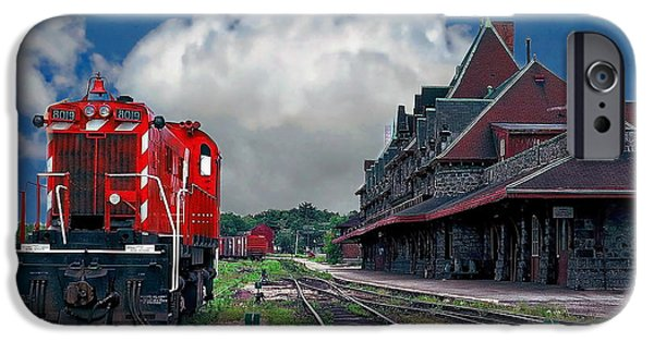 Town iPhone Cases - McAdam Train Station iPhone Case by Anthony Dezenzio