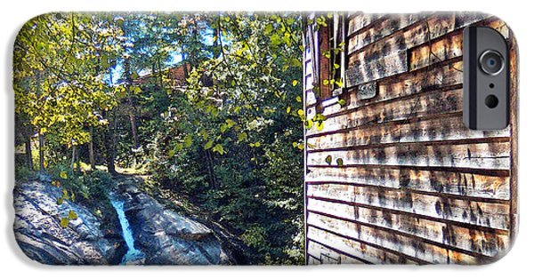 Grist Mill iPhone Cases - McGalliard Falls Park iPhone Case by Lydia Holly