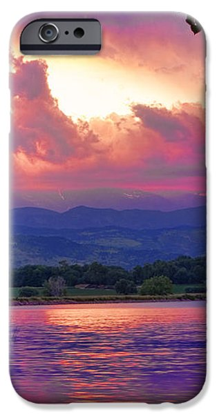 McIntosh Lake Sunset iPhone Case by James BO  Insogna
