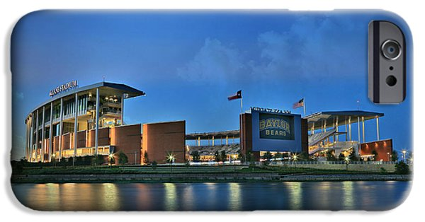 Buildings iPhone Cases - McLane Stadium -- Baylor University iPhone Case by Stephen Stookey