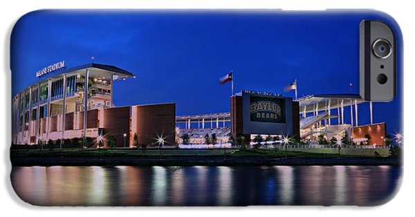 American Flag iPhone Cases - McLane Stadium Evening iPhone Case by Stephen Stookey