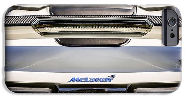 Rear View iPhone Cases - McLaren MP4 12C Rear View -0668c iPhone Case by Jill Reger