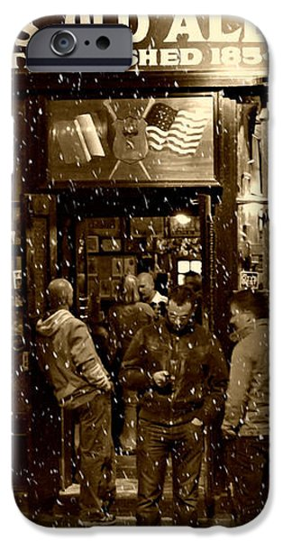 McSorley's Old Ale House iPhone Case by Randy Aveille