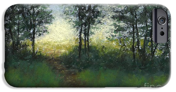 Pathway Pastels iPhone Cases - Meadow at Dawn iPhone Case by Ginny Neece