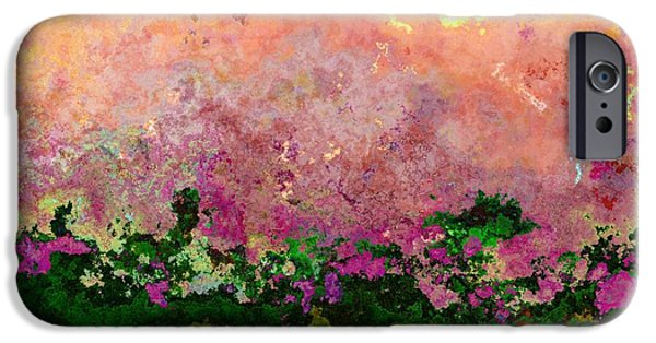 Business Digital iPhone Cases - Meadow Morning iPhone Case by Wendy J St Christopher