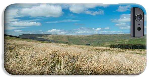 Meadow Photographs iPhone Cases - Meadows and Blue Skies iPhone Case by Colin Fisher