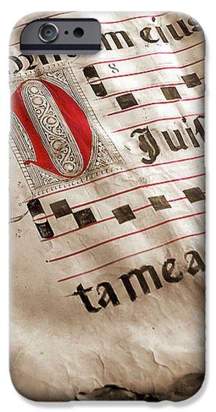 Medieval Choir Book iPhone Case by Carlos Caetano