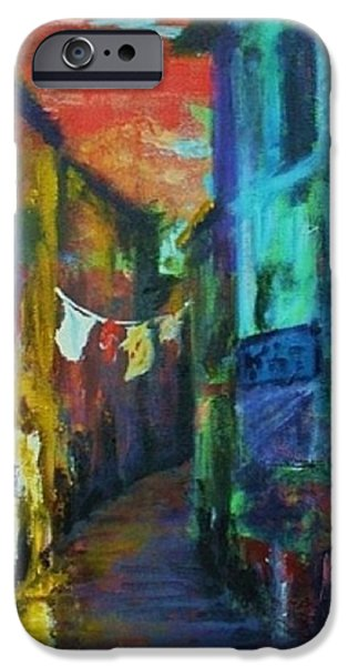 Tuscan Sunset Paintings iPhone Cases - Mediterranean Dusk iPhone Case by Margaret  Plumb