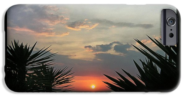 Ocean Sunset iPhone Cases - Mediterranean sunset iPhone Case by Sergey Lukashin