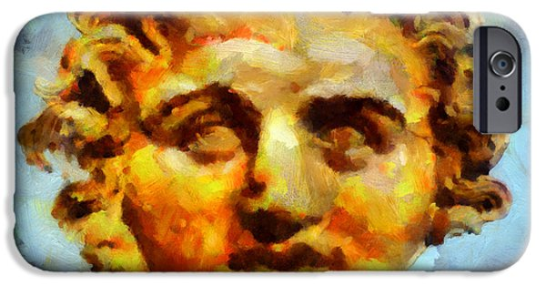 Statue Portrait Paintings iPhone Cases - Medousa iPhone Case by George Rossidis