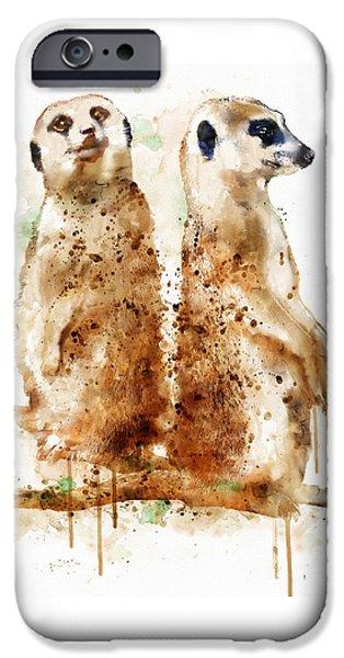 Meerkat iPhone Cases - Meerkats iPhone Case by Marian Voicu