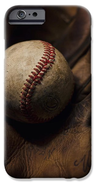 Baseball Glove iPhone Cases - Meet Me At The Sandlot iPhone Case by Heather Applegate