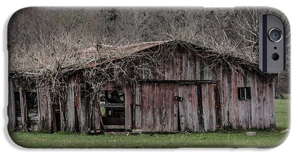 Old Barns iPhone Cases - Meet Me in the Barn iPhone Case by Gina Graves