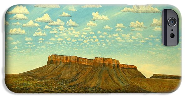 Sw New Mexico iPhone Cases - Meet the Posse At Little Crooked Mesa iPhone Case by Kerry Beverly