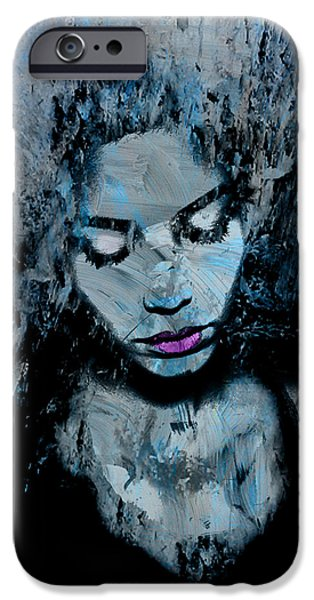 Lips Mixed Media iPhone Cases - Melancholy and the Infinite Sadness iPhone Case by Marian Voicu