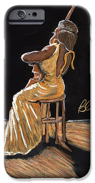 Sears Tower Pastels iPhone Cases - Mello as a Cello I iPhone Case by Charlie Black