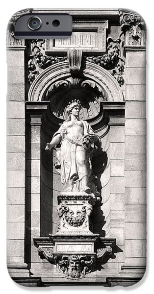 White House Sculptures iPhone Cases - Melpomene Sculpture Budapest iPhone Case by James Dougherty