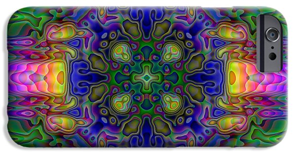 Kaleidoscope iPhone Cases - Melted iPhone Case by Lyle Hatch