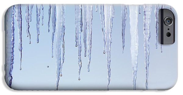 Dribbling iPhone Cases - Melting Icicles iPhone Case by Oleksiy Maksymenko