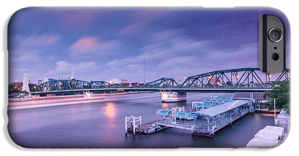 Town iPhone Cases - Memorial Bridge. iPhone Case by Dollatum Hanrud