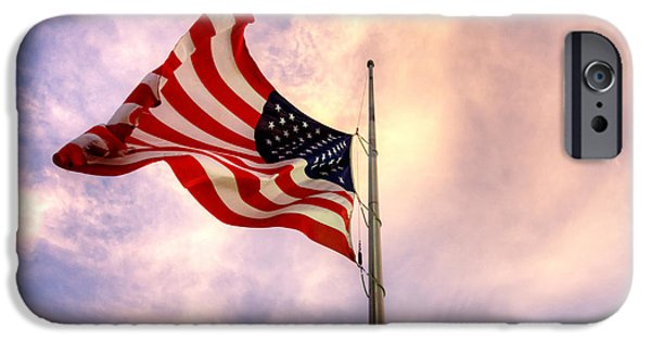 American Flag iPhone Cases - Memorial Day Marco iPhone Case by Joey Waves