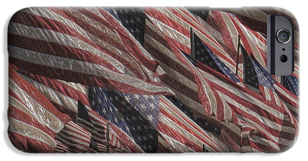 Old Glory Paintings iPhone Cases - Memorial iPhone Case by Jack Zulli