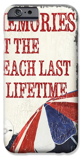 Memories iPhone Cases - Memories at the Beach iPhone Case by Debbie DeWitt