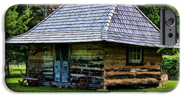 Cabin Window iPhone Cases - Memories of Days Gone By iPhone Case by Judy Vincent
