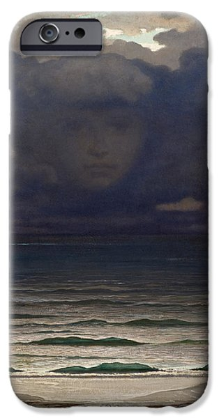 The Blue Face iPhone Cases - Memory iPhone Case by Elihu Vedder
