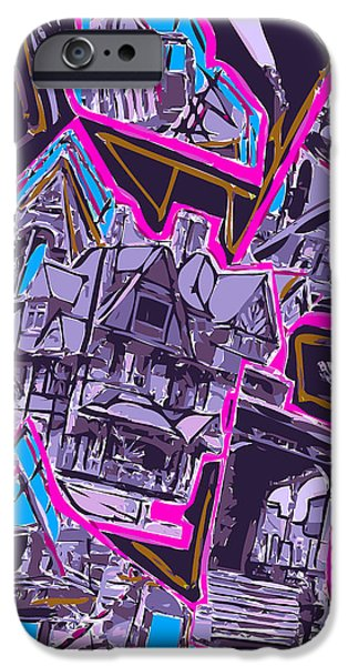 Asymmetrical iPhone Cases - Memory of Tilting Victorian Structure iPhone Case by F Burton