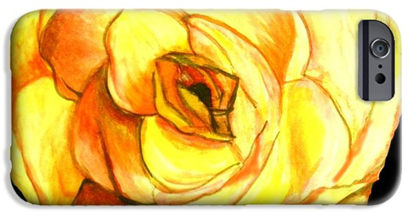 Flora iPhone Cases - Memphis Rose iPhone Case by Jacquie King