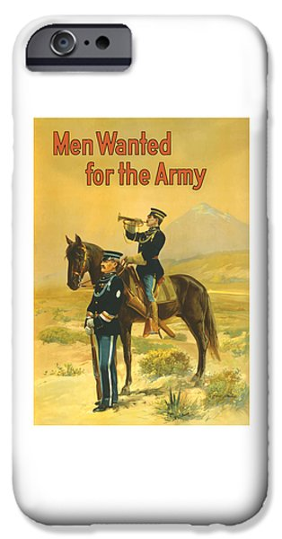 World War One iPhone Cases - Men Wanted For The Army iPhone Case by War Is Hell Store