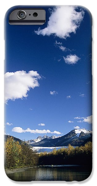 Snowy Stream iPhone Cases - Mendenhall River iPhone Case by John Hyde - Printscapes