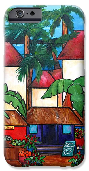 Mercado en Puerto Rico iPhone Case by Patti Schermerhorn