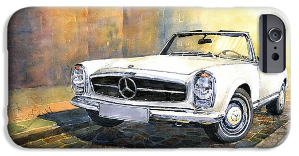 Auto iPhone Cases - Mercedes Benz W113 280 SL Pagoda Front iPhone Case by Yuriy  Shevchuk